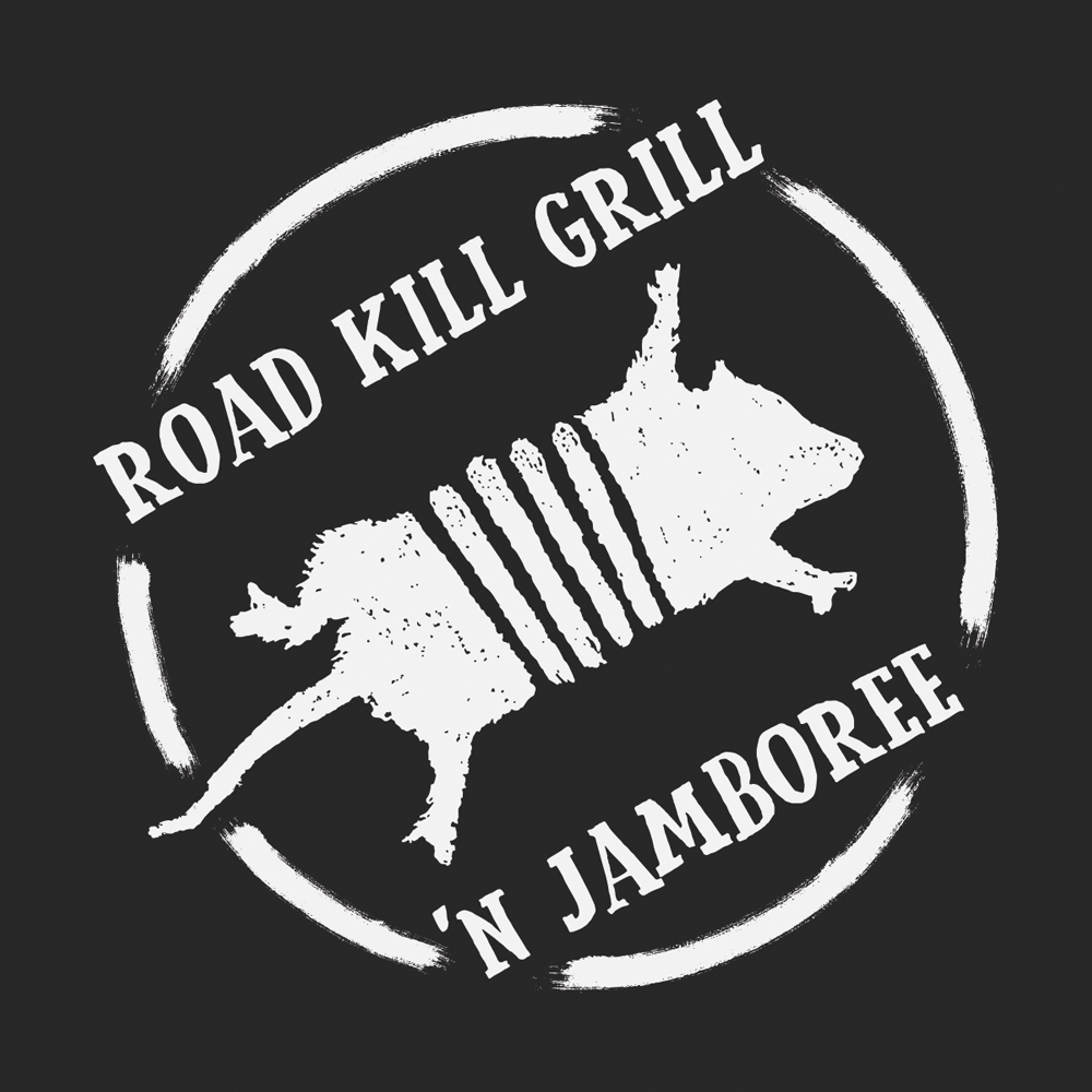 The logo for the Road Kill Grill 'N Jamboree