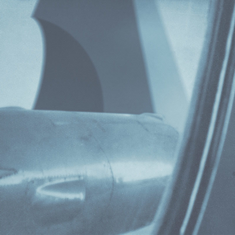 A closer view of the anomaly, from the window of an aircraft.