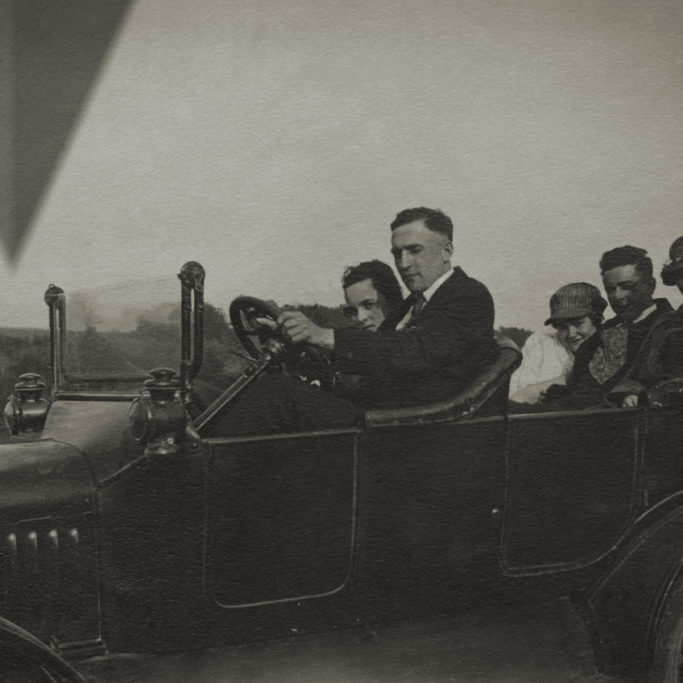 Five individuals sit in an automobile, as the first wave of anomalies descend to Earth.