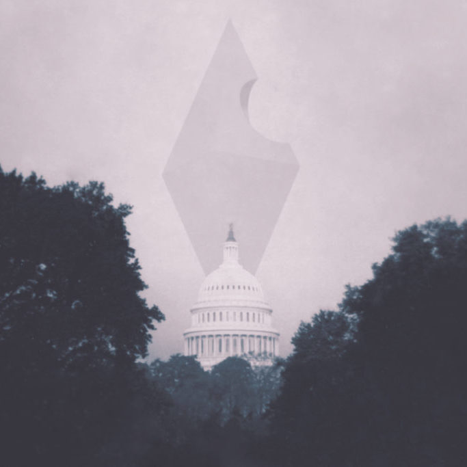 The anomaly looms over the United States Capitol Building.